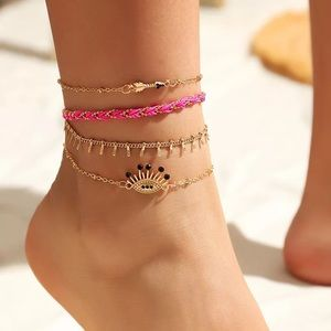 Colors of a Bohemian Babe Good 4pc Anklet Set